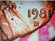 One 1981-d Lincoln Penny Roll Copper 50 Us Cent Coins Uncirculated Obw Roll