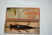 Tough Vintage Heddon 159h Red Scale Minnow In Correct Down Leaping Bass Box