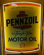 Neon Signs / Pennzoil Neon Sign / Garage Signs For Men / Man Cave Signs Gas Oil