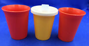 3 Tupperware Sippy Bell Tumblers 7 Oz Cup 109 And 1 Sippy Lid