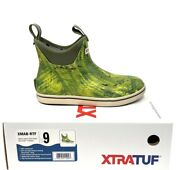 Xtratuf Waterproof Rubber Realtree Fishing Camo Menand039s Sz 9 Ankle Deck Boots