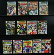 Amazing Spider-man Lot 13 Issues, 175 With The Punisher Plus 12 More F-vf