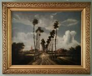 Meindert Hobbema Dutch Golden Age Old Master 19thc Antique Oil Painting