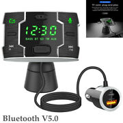 Car Auto Handsfree Fm Transmitter Wireless Bluetooth Mp3 Player Usb Fast Charger