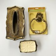 Vintage Amerock Carriage House Towel Ring, Tissue Box And Soap Dish