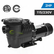 In/above Ground Swimming Pool Pump Motor 2hp 6500gph W/strainer