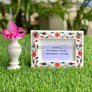 Family Picture Frame Marble Inlay Photo Frame Personalized Frames 4x6
