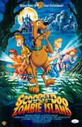 Billy West +4 Signed 11x17 Scooby Doo Zombie Island Authentic Autograph Jsa Coa