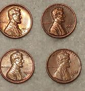 1968 S, 1970 S, 1972 S And 1974 S Rare Lincoln Cent Pennies Set Of 4