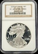 2000 P Proof American Silver Eagle Ngc Pf69 Ultra Cameo