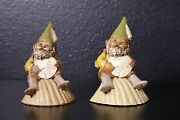 2x Tom Clark Gnome 1986 W Coin + 1990 Shelly Sculpture