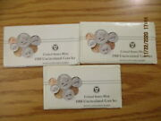 Lot Of 4 1988 Us Mint Sets P And D In Original Envelopes 40 Bu Coins In Cello 2