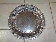 """Wilton Armetale 13 1/2"""" Grape Leaf Round Tray Platter Charger"""