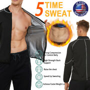 The Kewlioo Menand039s Sauna Suit Heat Trapping Shirt - Hot Sweat Body Shaper Vest Us