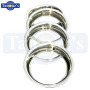 For 15 X 7 Chevy Steel Rally Wheel Rim Trim Ring - Stainless Steel - Set