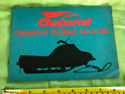 Vintage 1970's Chaparral G44b-g34b-g29b-g25a- Snowmobile Owners Japan Manual