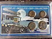 America's Obsolete Coin Collection 4 Coins 2 Are Silver