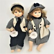 Forever Friends The Pamela Collection Porcelain Boy And Girl Twin Dolls Rare