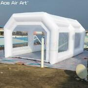 Beautiful White Arch Tunnel Inflatable Spray Painting Booth Portable Paint Car
