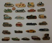 Retro Cars Lot Of Vintage Pin Badges Soviet Ussr.super Collection 25 Pieces.
