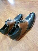 Cole Haan Air Colton Saddle Black Brown Oxford Brogues Mens13 Leather Shoes