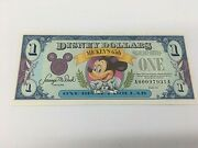 Disney Dollar 1 Note- Mint Condition - Mickeyand039s 65th - Series 1993
