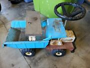 Htf Vintage 70s Red White Blue Buddy L Mack Sit And Ride Steer Dump Truck