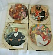 Knowles Little Orphan Annie Set Of 4 Collectors 8 1/2 Plates, Boxes, Coas