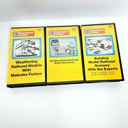 Kalmbach Video Vhs Tapes Lot Of 3 Weathering Building Scenery Model Railroads