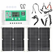 2x 15w Flexible Solar Panel Solar Charging Board Photovoltaic System For Emer Ss