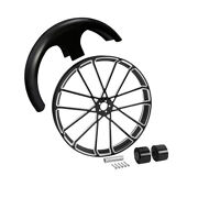 🔥30x3.5 Front Wheel Rim Hub + Front Fender Fit For Harley Touring 2008-2021