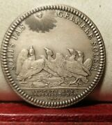 1970s Louis Xv Historical Rare 32mm Silver Token Medal Kingand039s Attorneys Eagles