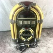 """Crosley Table Top Jukebox Tested Working 100 Year Anniversary Approx 14"""" Tall"""