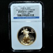 2006-w 50 Gold American Eagle ✪ Ngc Pf-69 ✪ 1 Oz Proof Pr 20th Anv Set◢trusted◣