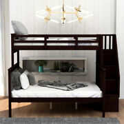 Gfd Home - Stairway Twin-over-twin Bunk Bed With Storage And Guard Rail For B...
