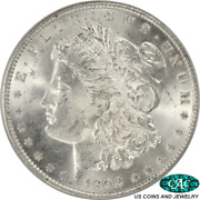 1892 Morgan Silver Dollar Pcgs And Cac Ms63 Ogh - White No Issues