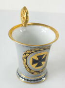 Antique Imperial German Porcelain Tirschenreuth Wwi Iron Cross Coffee Cup