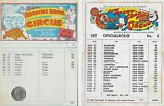 4 Vintage Clyde Beatty Cole Route Cards . Original Circus 1970's C172