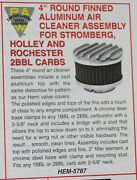 Paw 4 Finned Air Cleaner For 2.5/8 Neck Carburetors Stromberg Holley Rochester