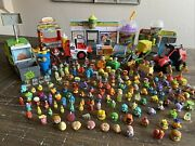 Massive Grossery Gang Toy Lot 3 Playsets, 4 Vehicles, 172 Figures +accessories