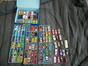 Matchbox Lot Of 114 Vintage Diecast Cars Late 1970s-1980s And Car Case
