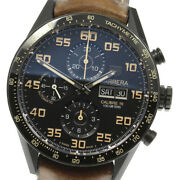 Tag Heuer Carrera Cv2a84 Chronograph Day Date Black Dial Automatic Menand039s_635112