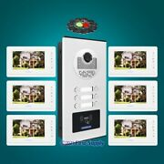 7 Tft Video Door Phone Intercom Kit With Mute Monitor For 6 Families