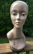 Mannequin Head, Female, African American, Rotating Base, 18.5, Used