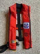 Adult Mustang Survival-us Coast Guard Auxiliary-inflatable Type Iii Pfd-80+ Lbs