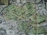 1720 Christoph Weigel, Plan Map Ancient Rome Roman Empire Italy Hand Colored