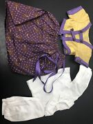 """18"""" American Girl Doll Outfit Cecile Parlor Gold And Purple Dress G1480 K"""