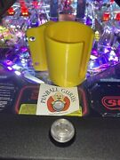 Pinball Machine Cup/drink/pop/soda Holder Front Or Side Mount - Yellow