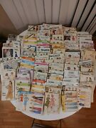 Huge Lot Of 132 Vintage Sewing Patterns Mccall's, Simplicity, Butterick, Vogue