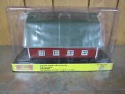 Rail King By Mth Red Barn W / Green Roof Rail Town Building Barn